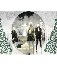 Aslan IL 351 Glasdekor Illustra Snow breedte 137cm