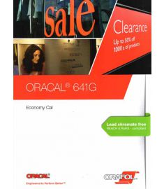Oracal 641 GLOSS Black-White-Transparent 126cm
